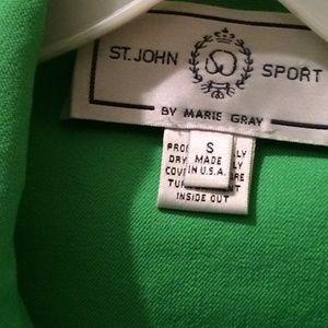 St.John Sport by Marie Gray Green Jacket